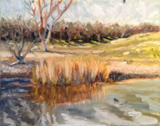 original oil painting, San Diego plein air, Ramona Grasslands, artist, Ronald Lee Oliver