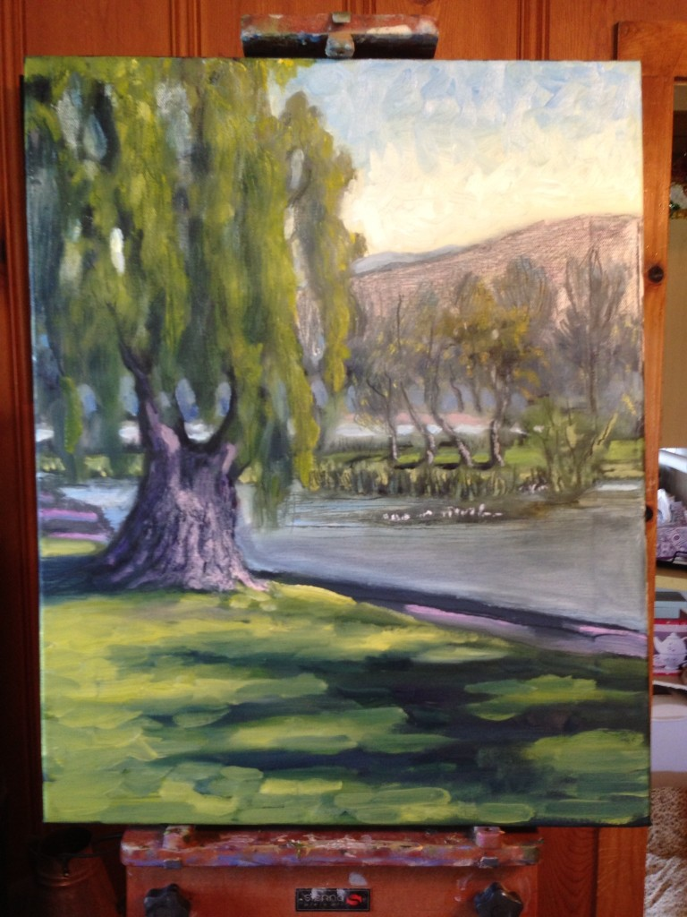 Lindo Lake Painting