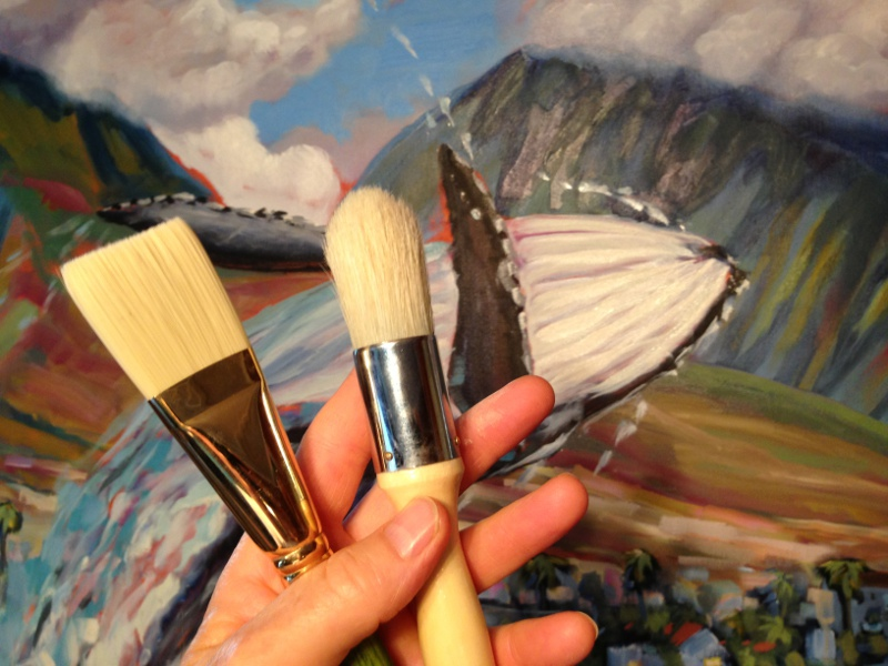 Large brushes for a Large Painting