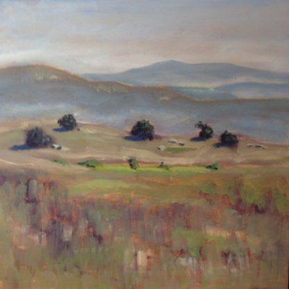 original oil painting, San Diego plein air, Ramona, artist, Ronald Lee Oliver
