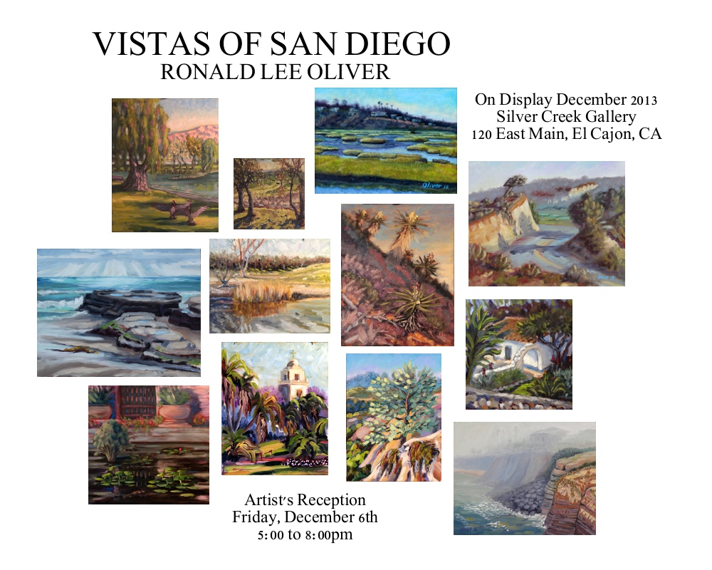 You're Invited to Attend the Artist's Reception, December 6, 2013 -- 5:00pm to 8:00pm