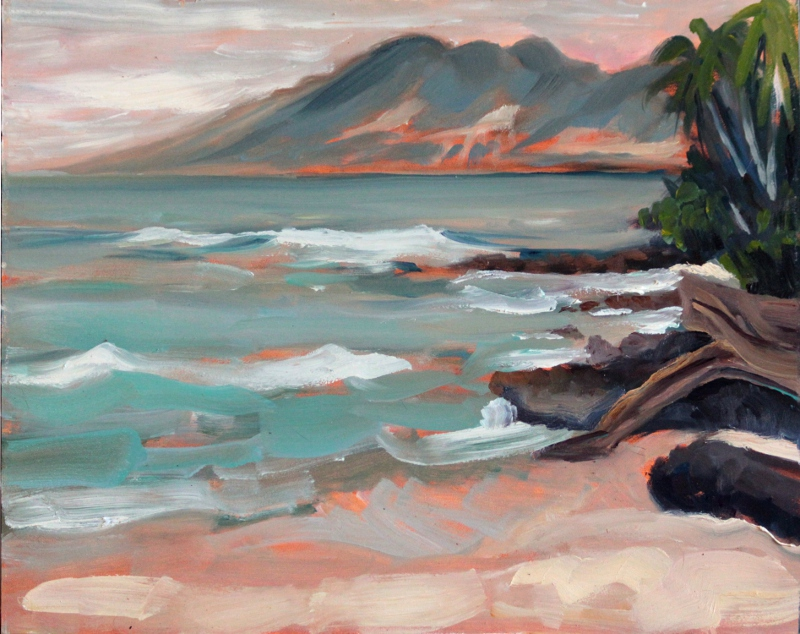 Molokai from Kahana - by Ronald Lee Oliver