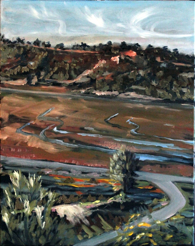 Penasquitos Lagoon from Del Mar Bluffs by Ronald Lee Oliver