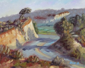 Torrey Pines plein air, original oil painting by San Diego plein air artist, Ronald Lee Oliver