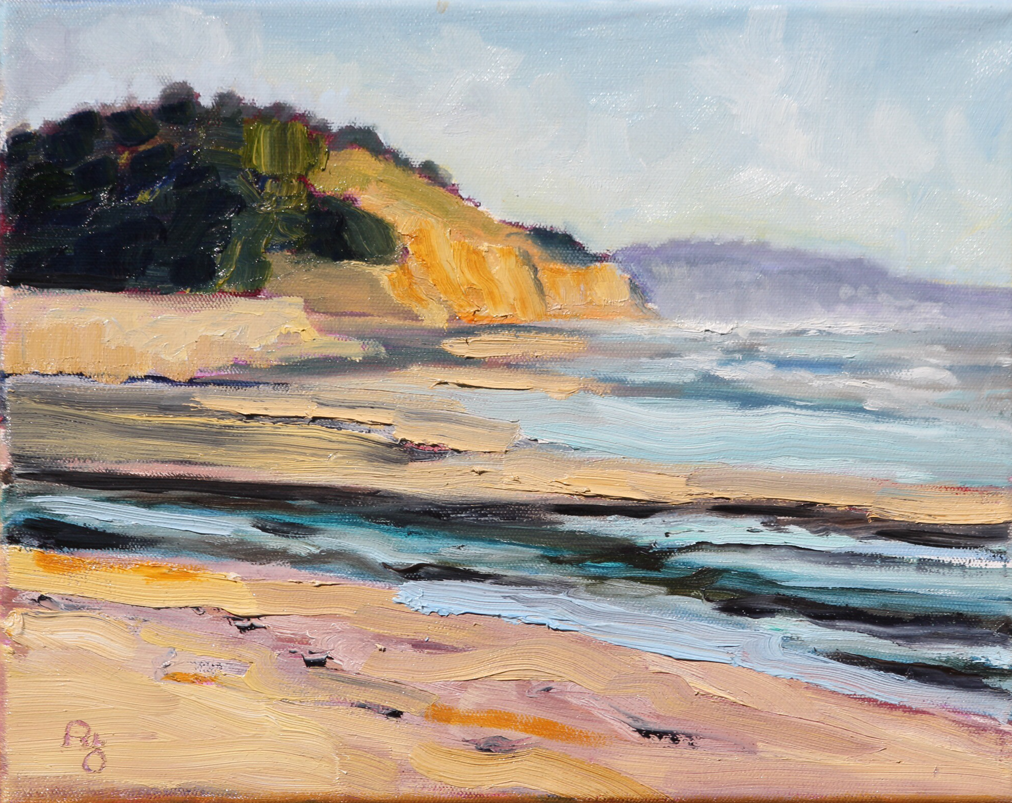 original oil painting, San Diego plein air, artist, Ronald Lee Oliver