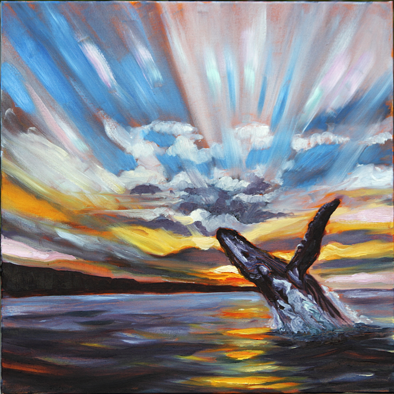 Lae O Na Kohola (Cape of Whales) 24 x 24 in. oil on canvas
