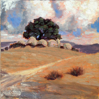 """Sentinel Oak"" original, San Diego Plein air, painting by Ronald Lee Oliver"