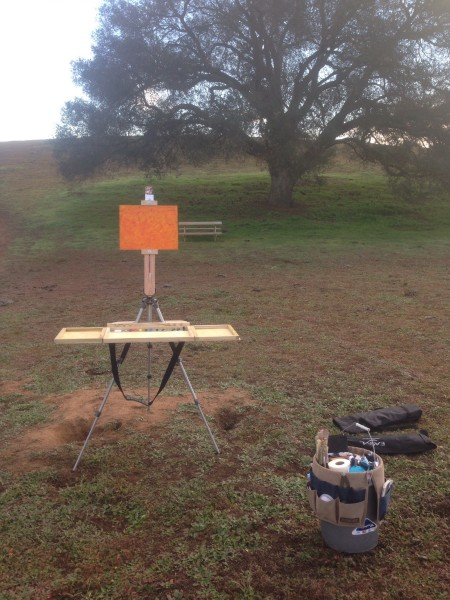RLO portable palette at Ramona Grasslands.