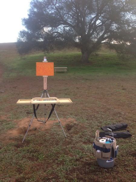 RLO portable palette at Ramona Grasslands.