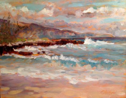 plein air, hawaii, original oil painting, Ronald Lee Oliver, San Diego Plein air, California Artist