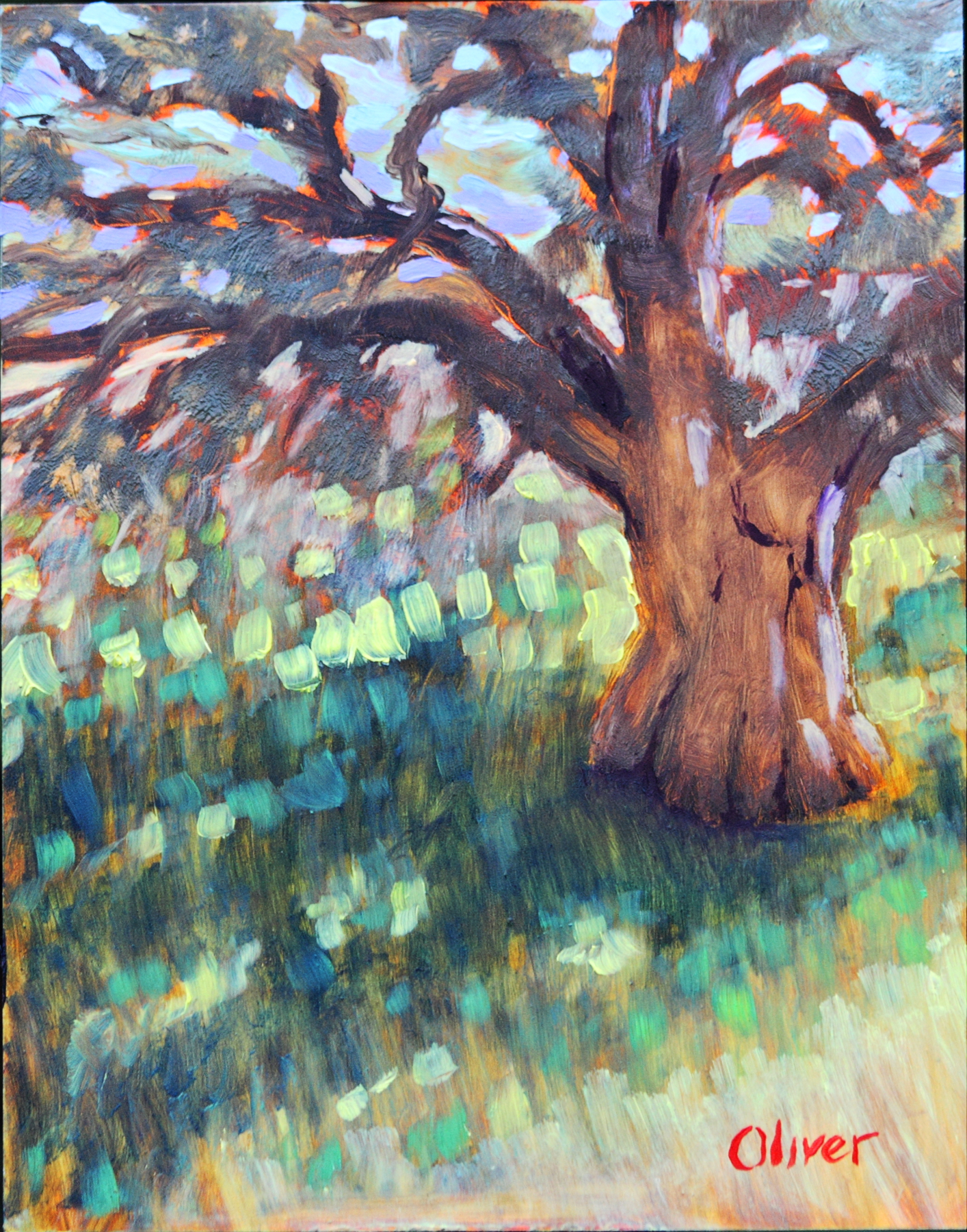 Ramona Oak ~ San Diego Plein air oil painting by artist Ronald Lee Oliver