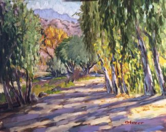 Pala Valley below Palomar, San Diego plein air painting by artist Ronald Lee Oliver.