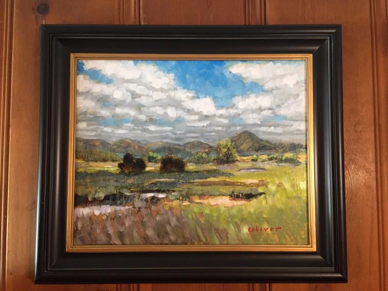 "Plein air painting, ""Santa Inez at San Elijo"" by San Diego artist, Ronald Lee Oliver."